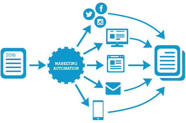 Combining reports with marketing automation