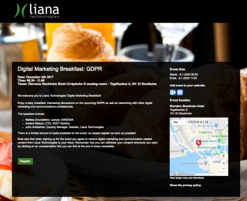Digital Marketing event by Liana Technologies