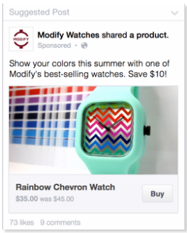 Purchase products via Facebook buy button easily